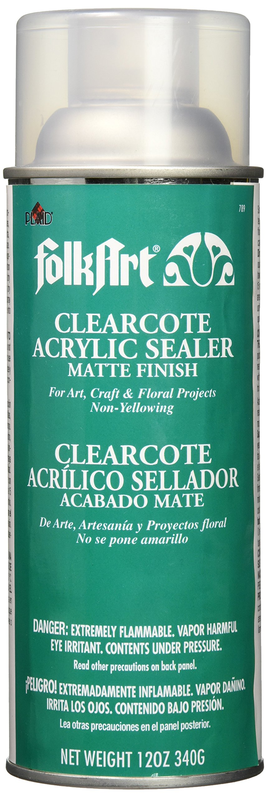 FolkArt 789 Clearcote Acrylic Sealer, 12 oz, Matte