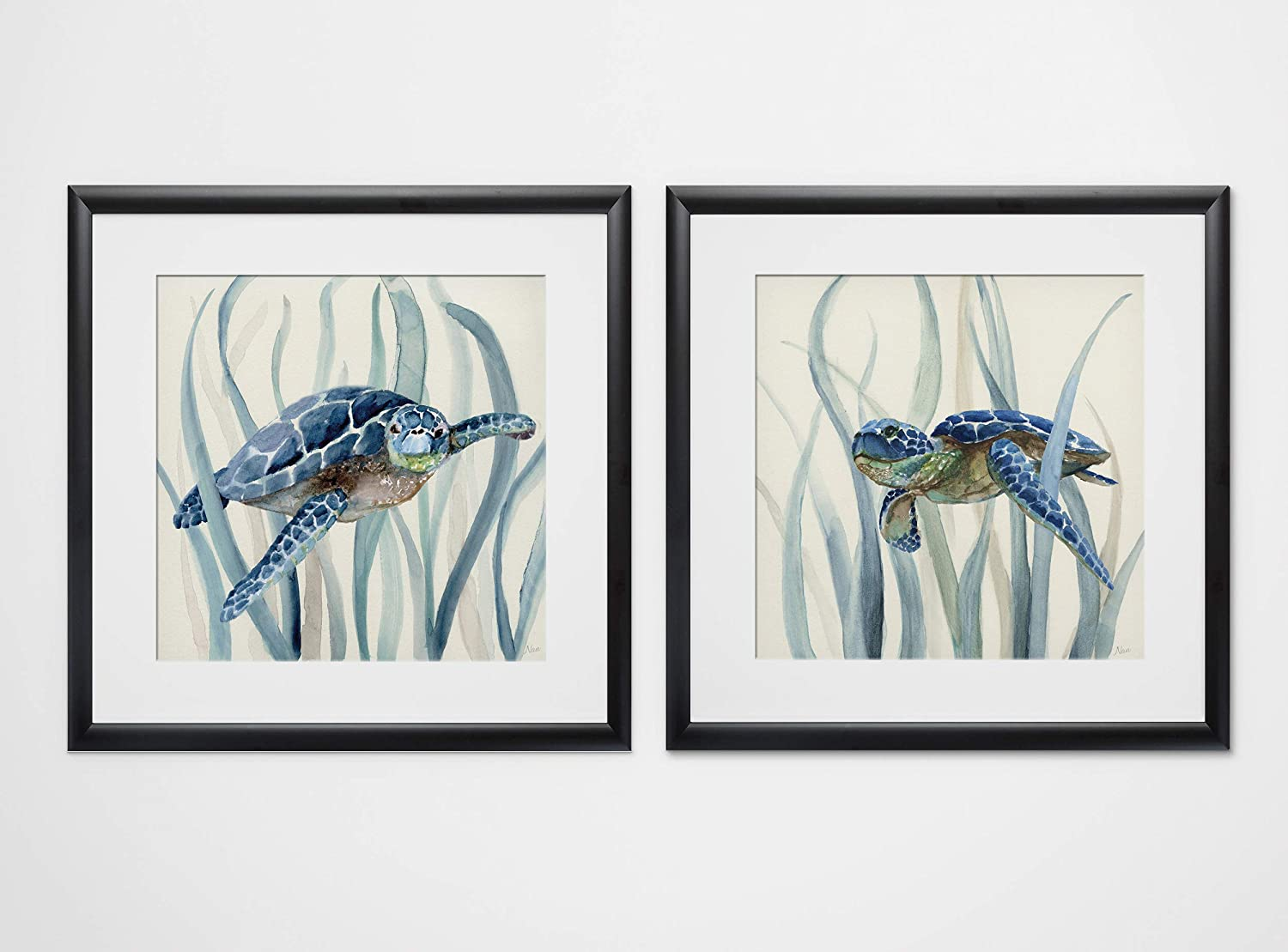 WEXFORD HOME Turtle in Seagrass I-2 Piece Set Art Print, 16X16