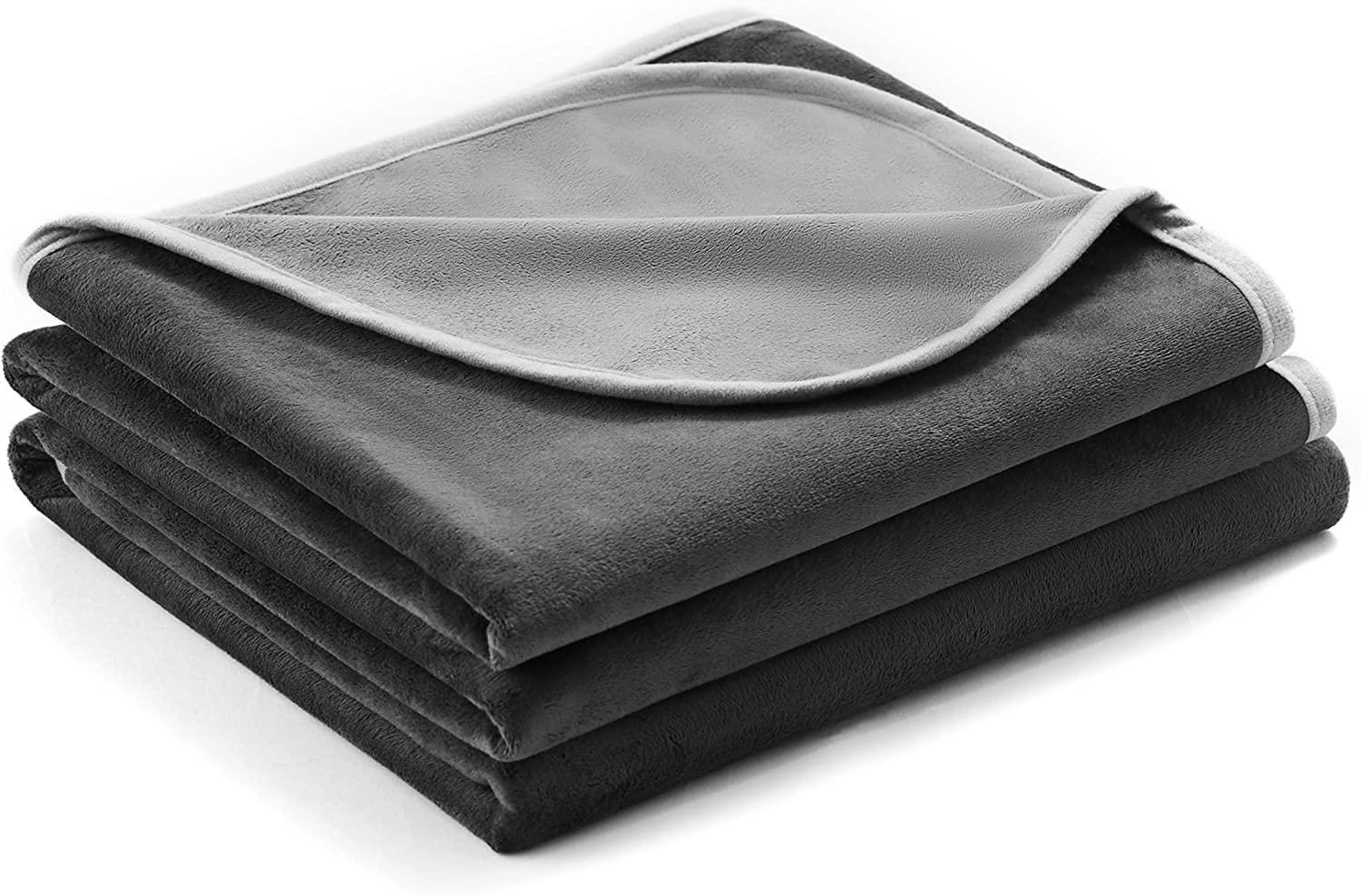 100% Waterproof Blanket, Furniture Cover and Protection, Reversible Double Layer Silky Microplush, Designed for Indoor and Outdoor, Made for Human and Pets, Grey, 80 x 60In