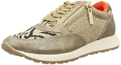 Around the world 360 Zapatillas Mujer, Color Dorado, Talla 40