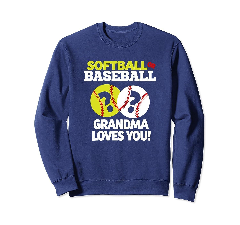 d1efc755 Gender Reveal Shirt Grandma Softball or Baseball Sweatshirt-alottee gift