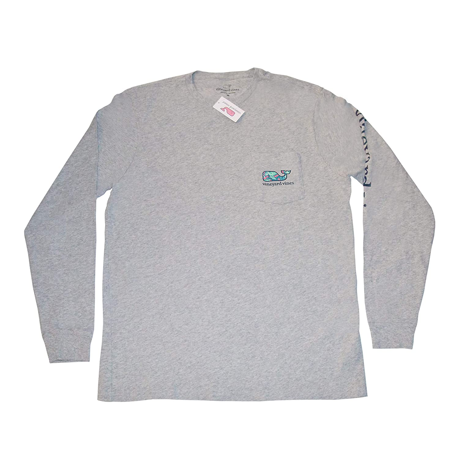 a12d5cba4 Amazon.com: Vineyard Vines Men's Graphic Long Sleeve Pocket T-Shirt Turtle  & Starfish Gray: Clothing