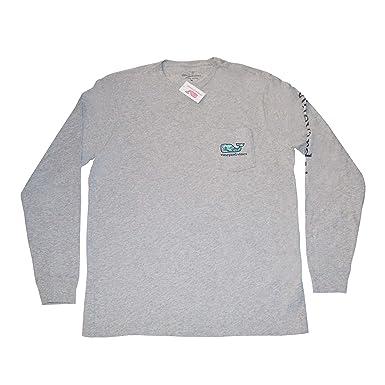 4698d80f Vineyard Vines Men's Graphic Long Sleeve Pocket T-Shirt Turtle & Starfish  Gray (XS