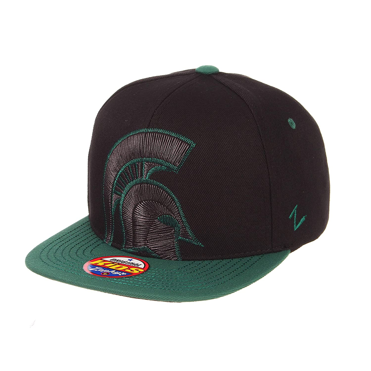 Youth Adjustable Black NCAA Zephyr Michigan State Spartans Youth Halftime Kid Hat