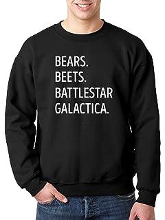 Amazoncom The Office Bears Beets Battlestar Galactica Sweatshirt