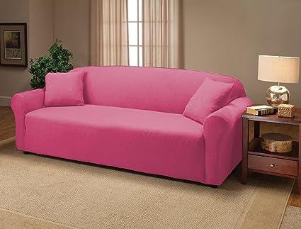 Amazon.com: Stretch Jersey Sofa Slipcover, Pink: Home & Kitchen