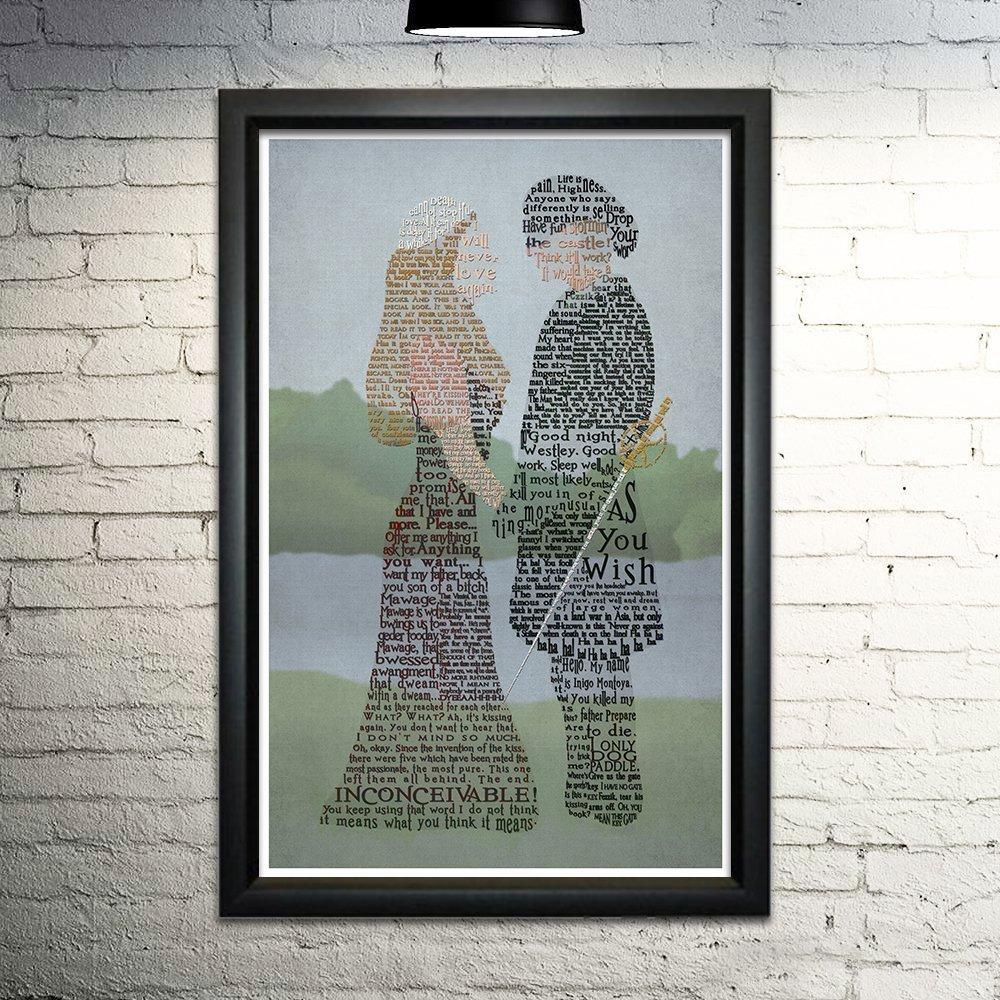 The Princess Bride word art print 11x17