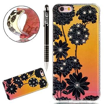 Coque iPhone 6 Plus Glitter, iPhone 6S Plus Coque Brillante, SainCat Ultra  Slim TPU