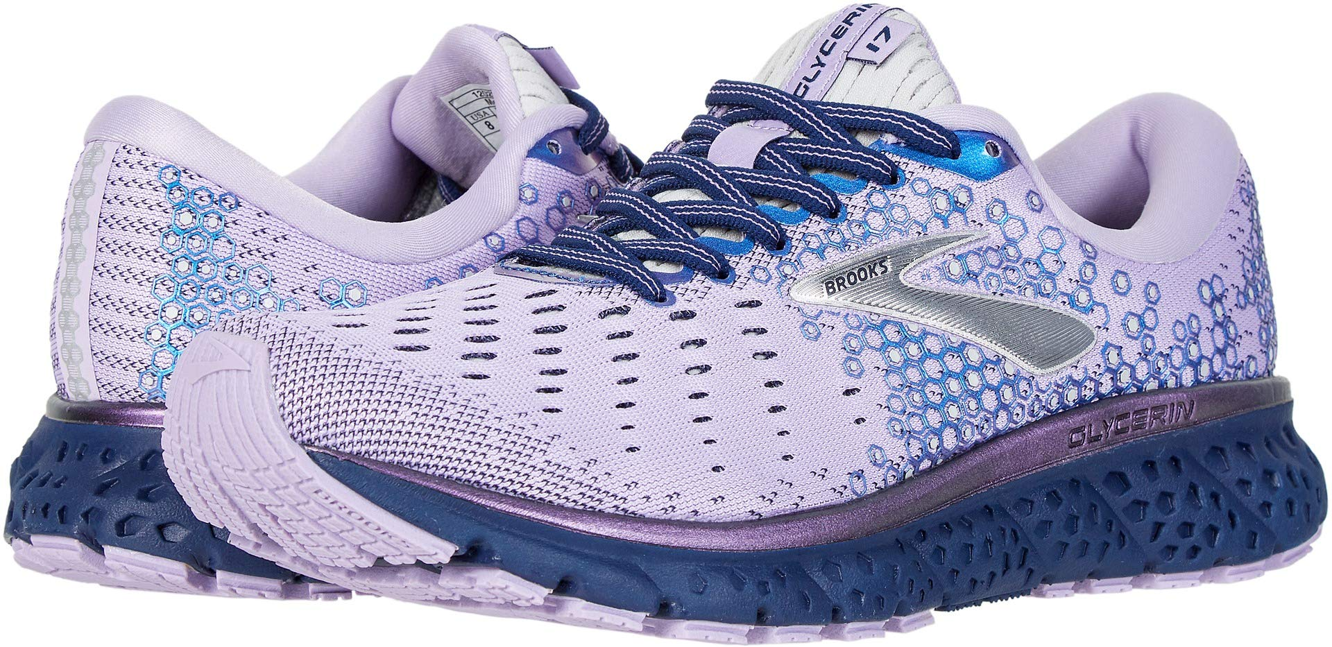 Brooks Women's Glycerin 17 Purple/Navy/Grey 6.5 B US by Brooks