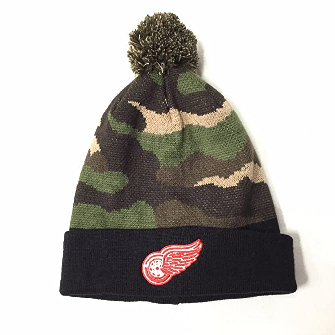 72d0b141a ... hat 93cc9 7c317 best price mens american needle forest camo detroit red  wings knit cd28c 6b91e sweden nhl ...