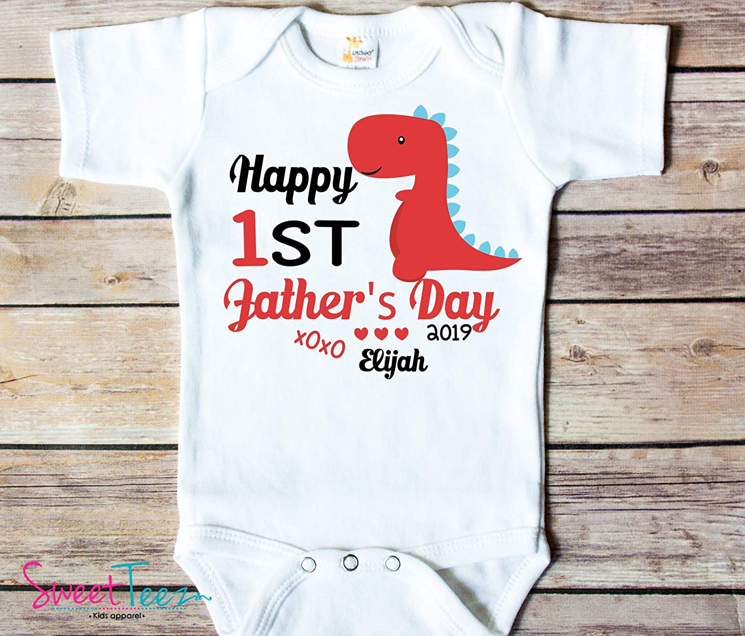 First Fathers Day Shirt Dinosaur Fathers Day Shirt First Personalized Gift Baby Boy Shirt