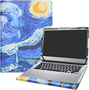 "Alapmk Protective Case Cover for 14"" ACER CHROMEBOOK 514 CB514-1HT CB514-1H & Lenovo ideapad S340 S340-14API S340-14IWL Laptop [Note:Not fit Acer Chromebook 14 CB3-431/FOR Work CP5-471],Starry Night"