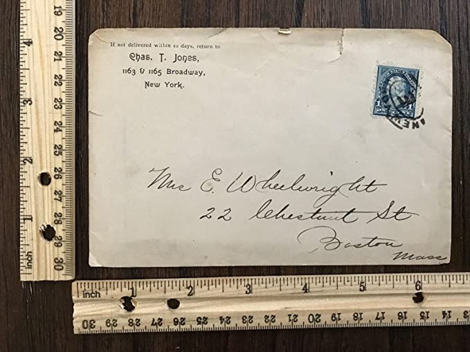 Amazon 1800s Envelope 1 Cent Blue Washington Stamp Canceled New