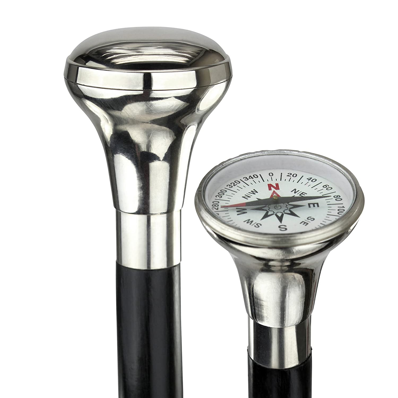 Design Toscano Empress Collection Lost Generation Compass Solid Hardwood Walking Stick TV10506