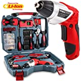 Hi-Spec 160pc Household DIY Tool Kit including Powerful 4.8v Cordless Screwdriver with LED & 600mAh Battery plus Most Reached for Hand Tools, Screw Bits & DIY Accessories in Sturdy Storage Case