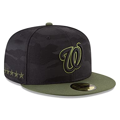 hot sale online 37ea1 12f31 Amazon.com  New Era Washington Nationals Memorial Day Fitted Cap 59fifty  Basecap Limited Special Edition  Clothing