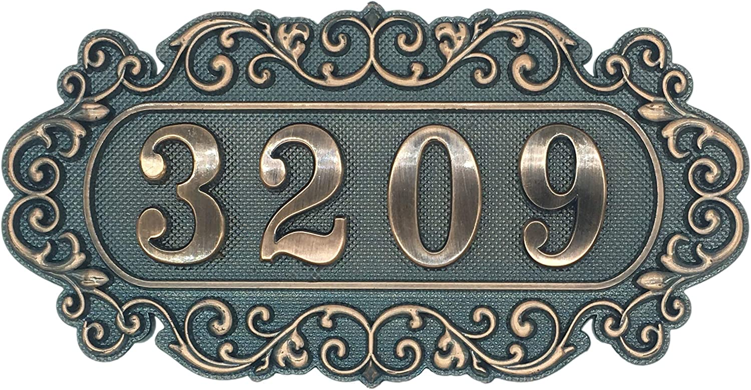 """Door Number Plate for Hotel, Apartment, Office, Students Dormitory and Public Facilities, 7""""W x 3.6""""H"""