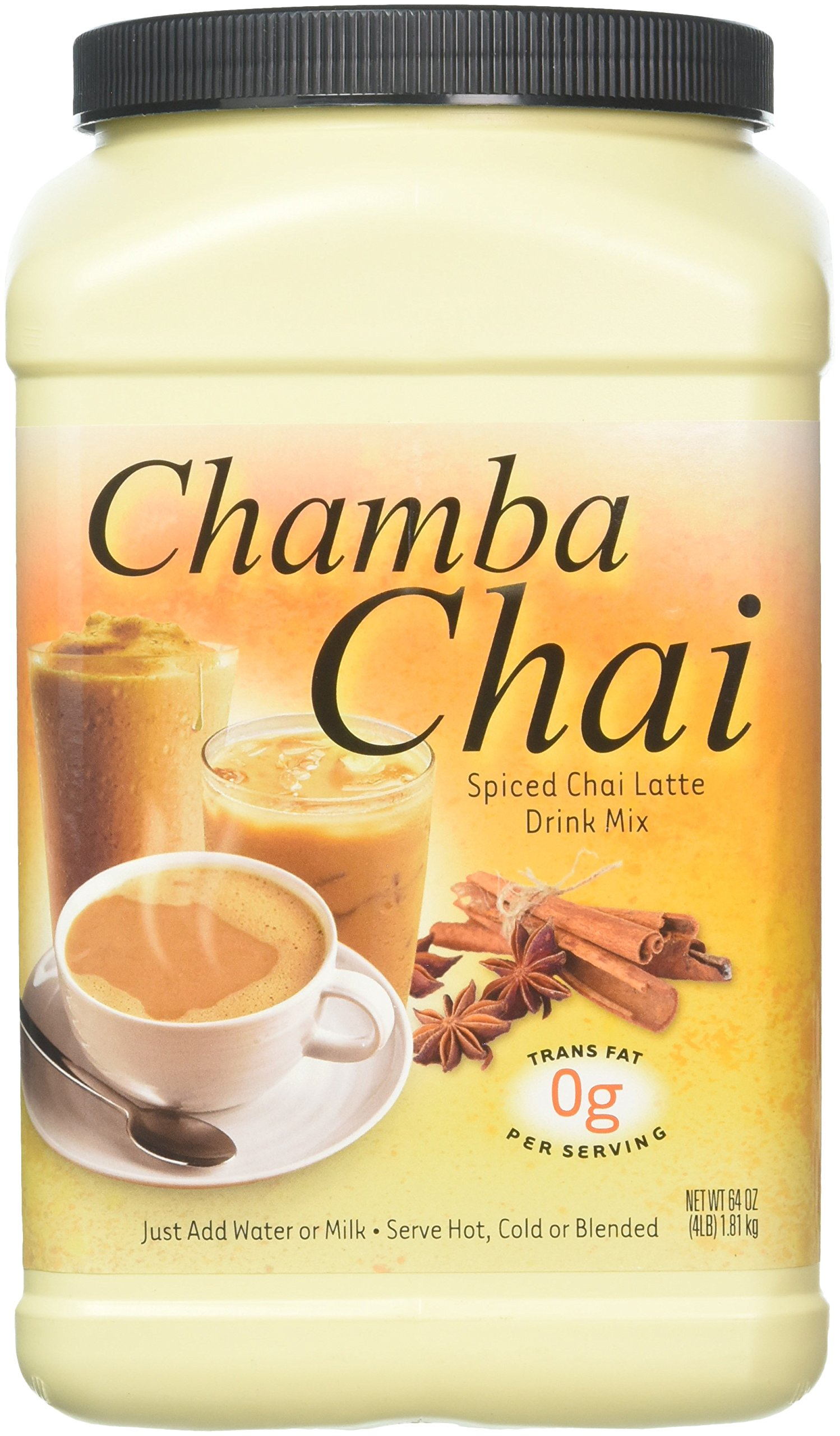Big Train Chamba Chai Spiced Chai Latte, Two  4lb. Jugs by Chamba Chai Spiced Chai Latte