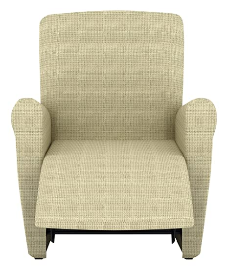 Eiffel Textile Lille Funda sofá sillón, Algodón, Marfil, 55 x 195 x 2 cm