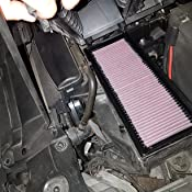 K/&N 33-2731 Motorluftfilter: Hochleistung 1995-1998 Pr/ämie Abwaschbar Ersatzfilter Erh/öhte Leistung 911