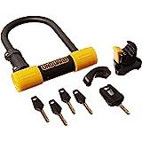 OnGuard Bulldog Mini DT U-Lock with 4-Feet Cinch Loop Cable (Black, 3.55 x 5.52-Inch)