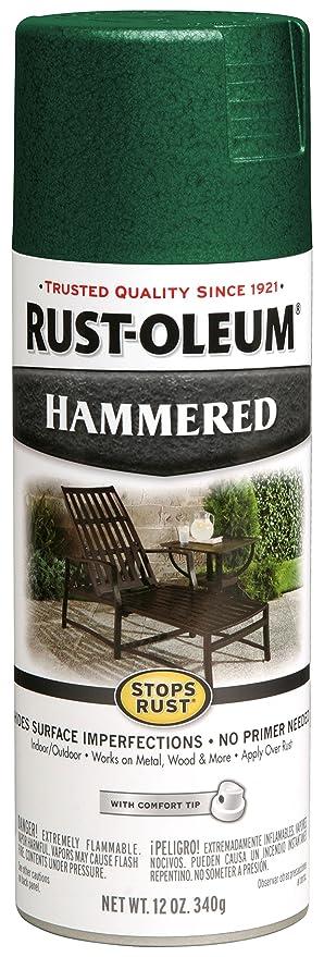Rust Oleum 7211830 Stops Rust Preventive Spray Paint 12 Oz Aerosol Can Deep Green