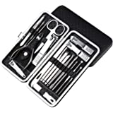 MICPANG Manicure Set Nail Clipper Set 19 in 1 Pedicure Kit Professional Nail Scissors Grooming Kit with A Portable Travel Cas
