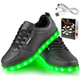Angin-tech LED Chaussures Unisexe Homme Femme Chaussure LED Sports Basket Lumineuse 7 Couleur USB Charge Chaussure Lumineuse Clignotants de avec Certificat CE