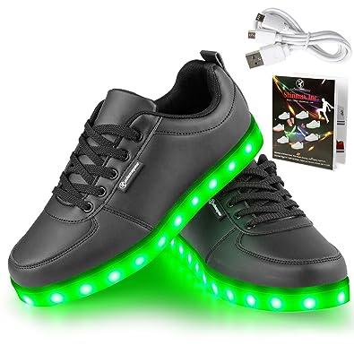 Angin-Tech Serie de Adultos Zapatillas LED USB de Carga de 7 Colores de Luz Zapatillas ...