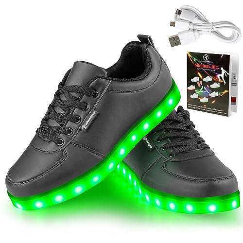 Angin-Tech Serie de Adultos Zapatillas LED USB de Carga de 7 Colores de Luz