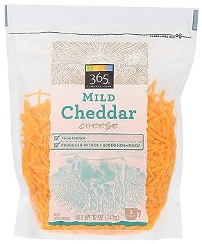 365 Shredded Mild Cheddar Cheese
