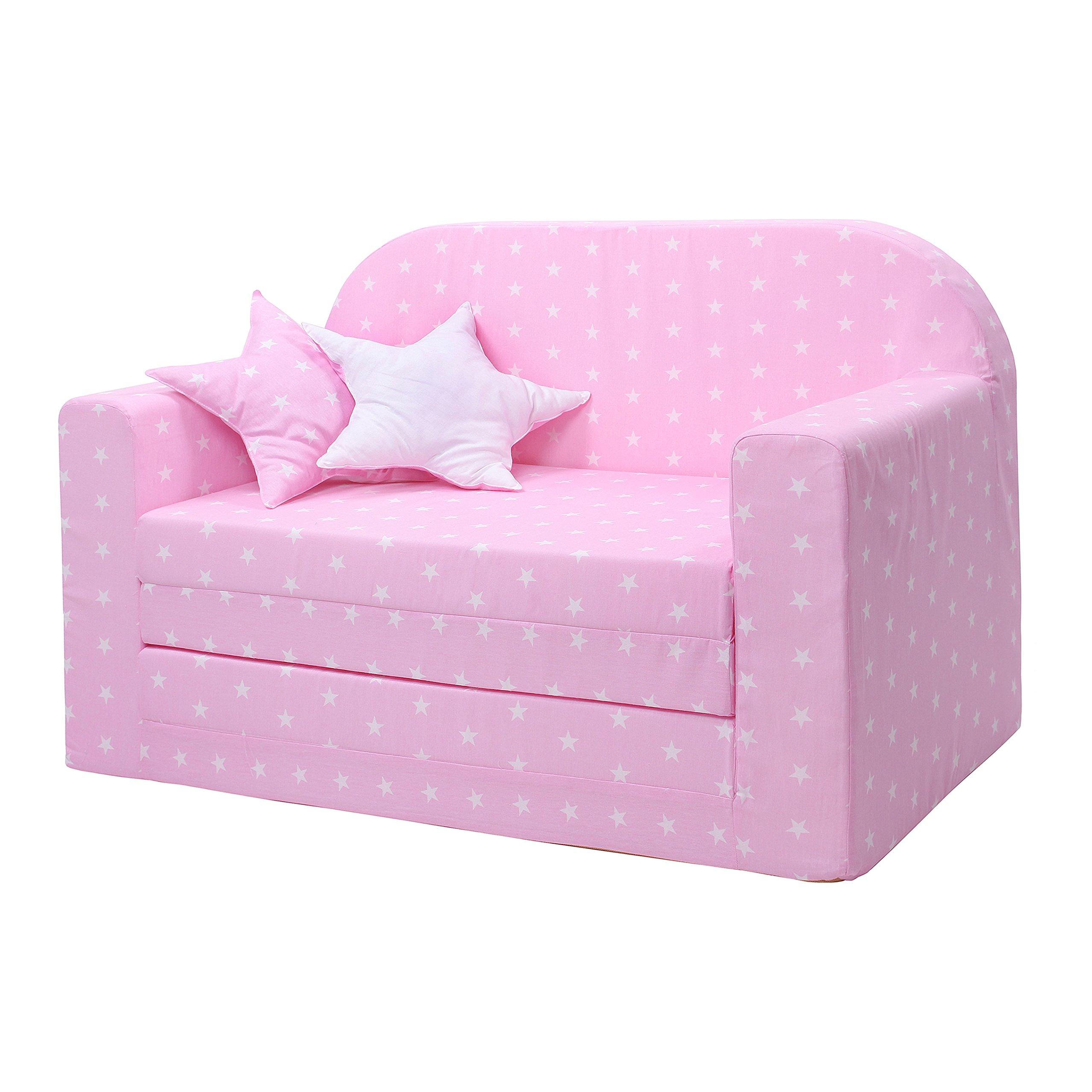LULANDO Divano Letto Estraibile per Bambini Certificato Oeko-Tex Standard 100, Due Cuscini Decorativi product image