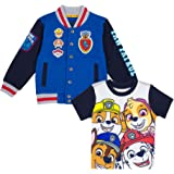 Paw Patrol Jacket with Chest Patch and Short Sleeve T-Shirt Combo