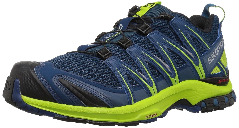 Salomon XA Pro 3D, Calzado de Trail Running para Hombre 41 1/3 EU|Azul (Poseidon/Lime Green/Black)