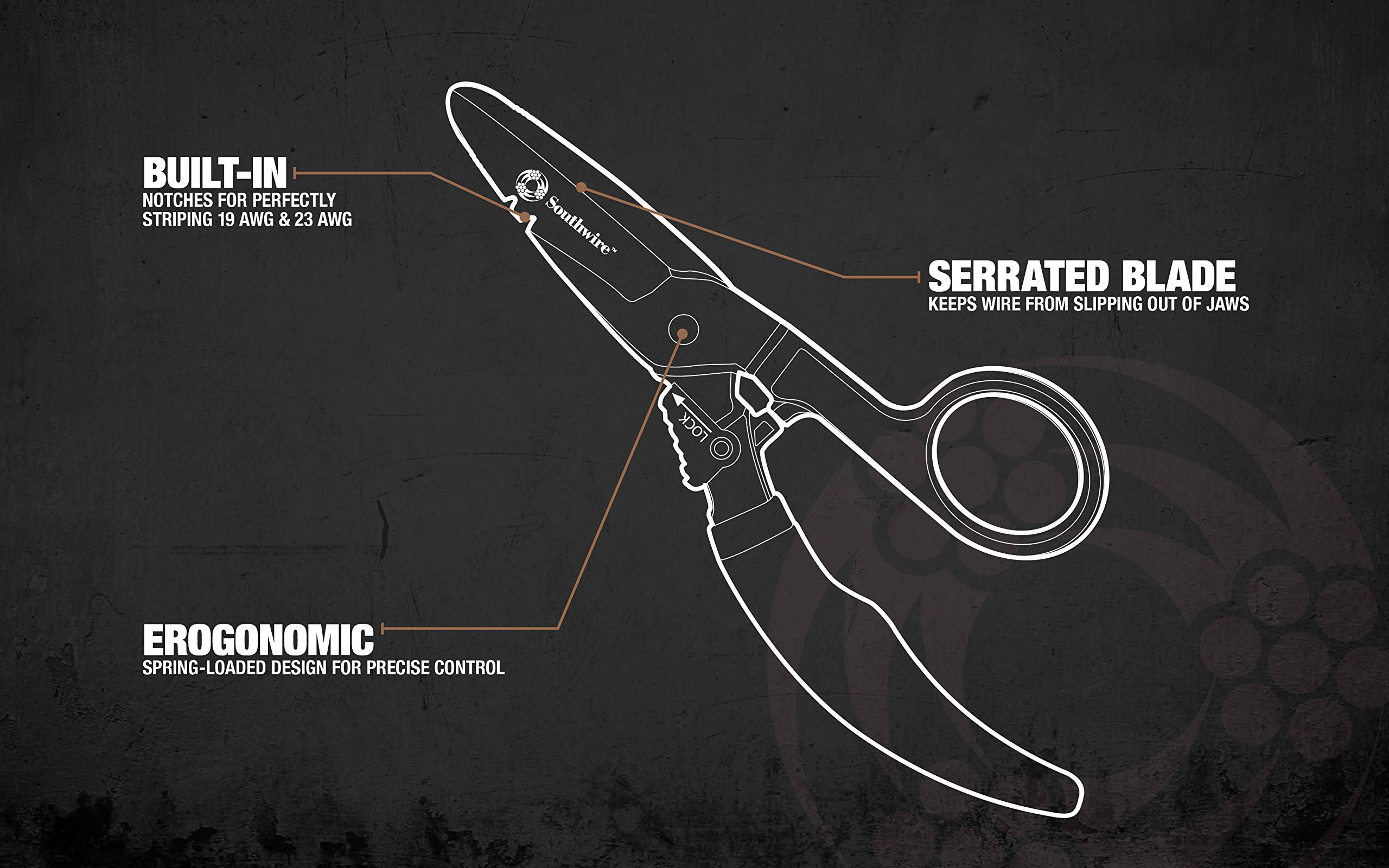 Southwire Tools Equipment ESP-1 Electrician Scissors - DataComm ...