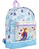Disney Frozen 2 Mochila Escolar Infantil para Niñas Azul, Princesas Disney Anna Elsa El Reino del Hielo, Mochilas Disney…
