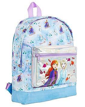muy genial zapatos casuales Calidad superior Disney Frozen 2 Mochila Escolar Infantil para Niñas Azul ...