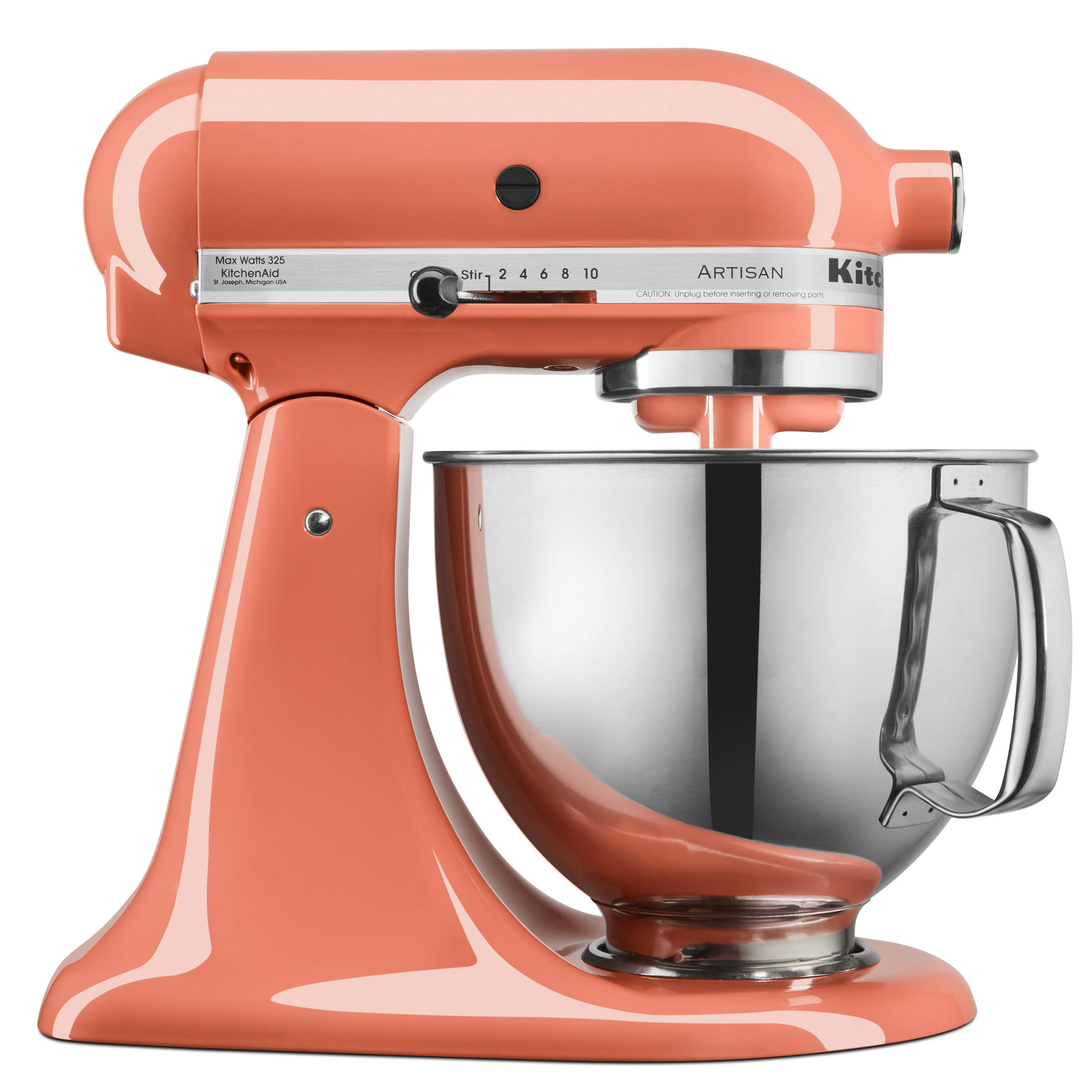 KitchenAid KSM150PSPH Artisan Tilt-Head Stand Mixer with Pouring Shield, 5-Quart, Bird of Paradise by KitchenAid