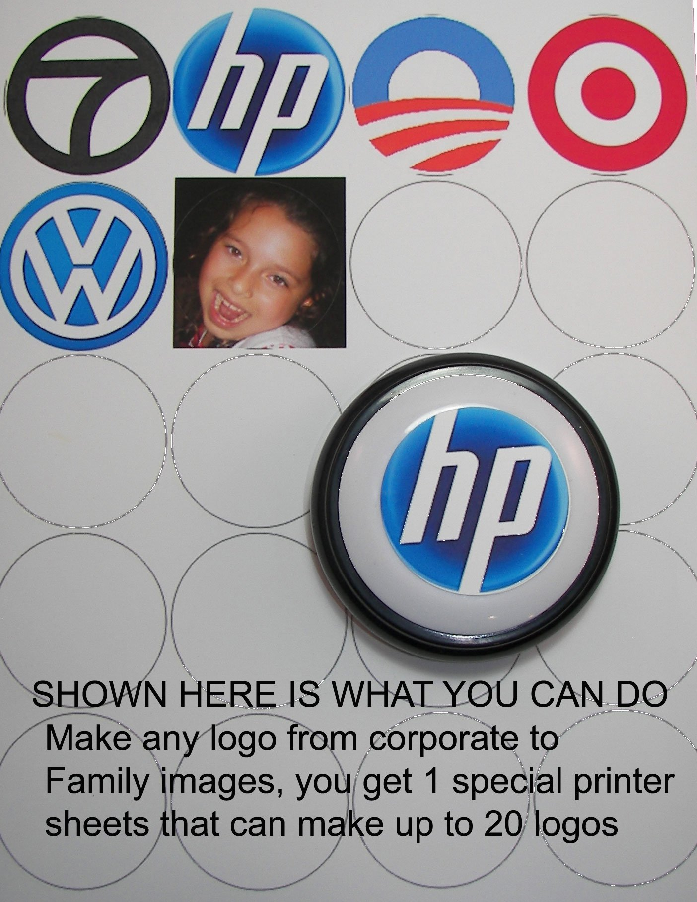 CUSTOM EASY BUTTON MAKER KIT - ADD YOUR LOGO AND 10 SECONDS OF SOUND