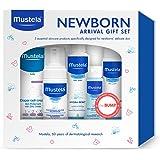 Mustela Newborn Arrival Gift Set, Baby Bathtime & Skin Care Essentials, 5 Items