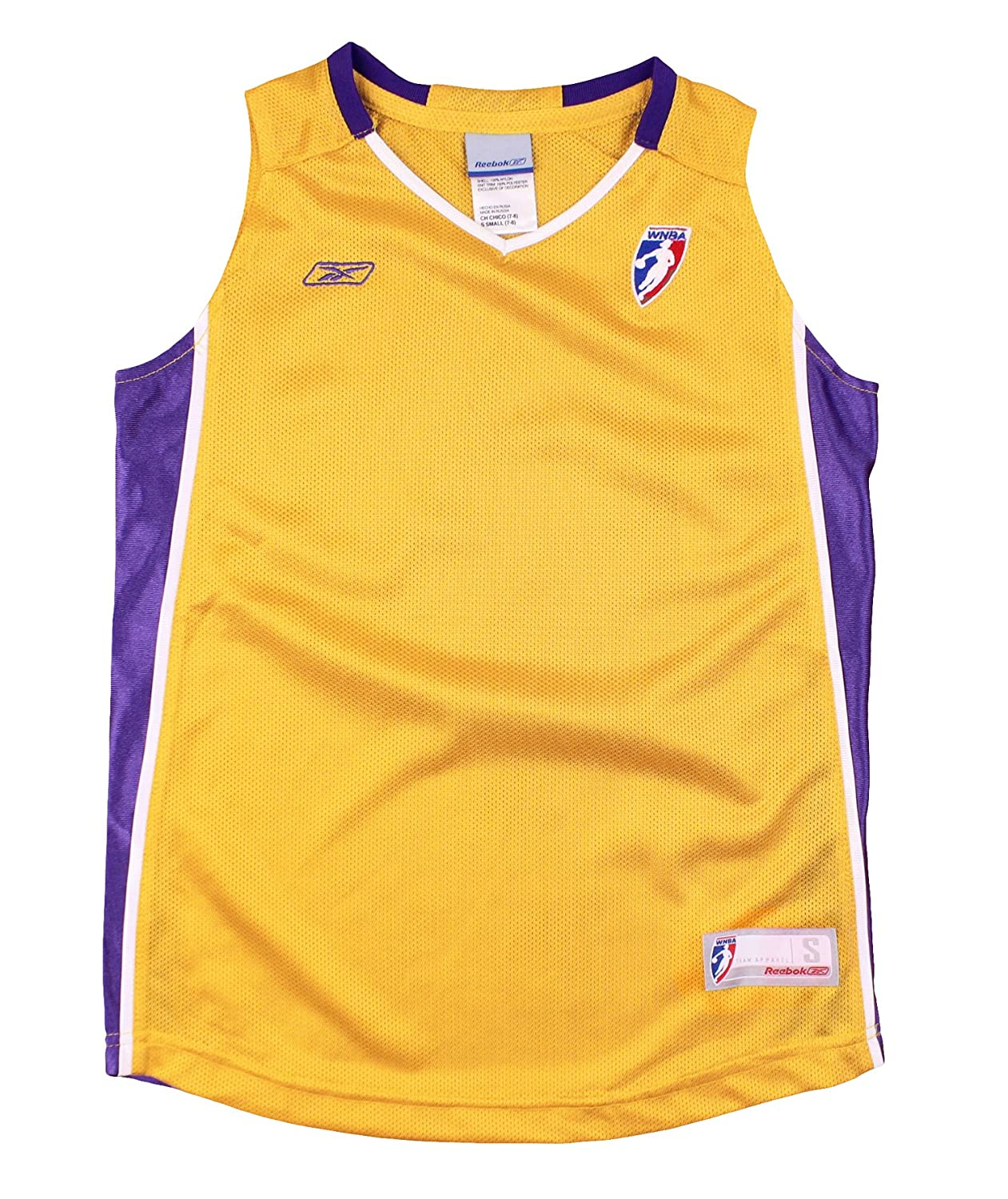9d72a9883003 Amazon.com   Los Angeles Sparks WNBA Youth Big Girls Blank Basketball Jersey  - Gold   Sports   Outdoors