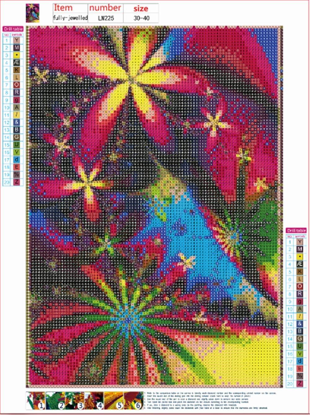 Bambini per Adulti 30 x 40 cm Sunnay Diamond Painting Set Full Vaso S Immagine Completa Decorazione Regalo