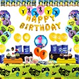 Birthday Party Supplies for Game Lovers, 142 pcs