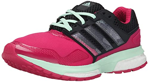 adidas Womens Response Boost 2 Techfit W Pink Black Running Shoe 6 Women US