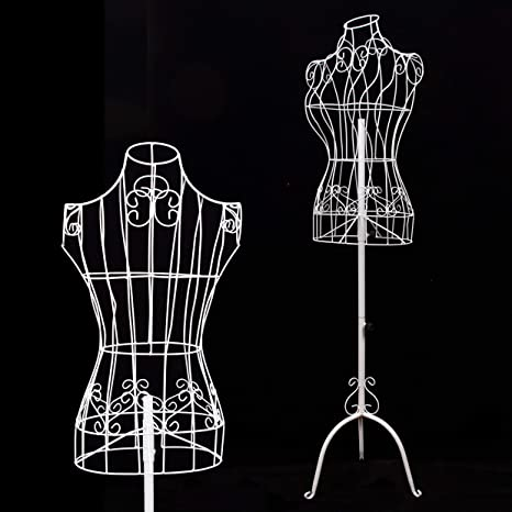 Amazon Com Female White Metal Steel Wire Mannequin Dress Form For Sewing Display Arts Crafts Sewing