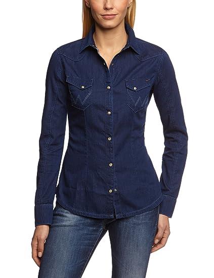tout neuf 42ea3 13470 Wrangler - Chemise en jeans - Coupe Cintrée - Femme, Bleu ...