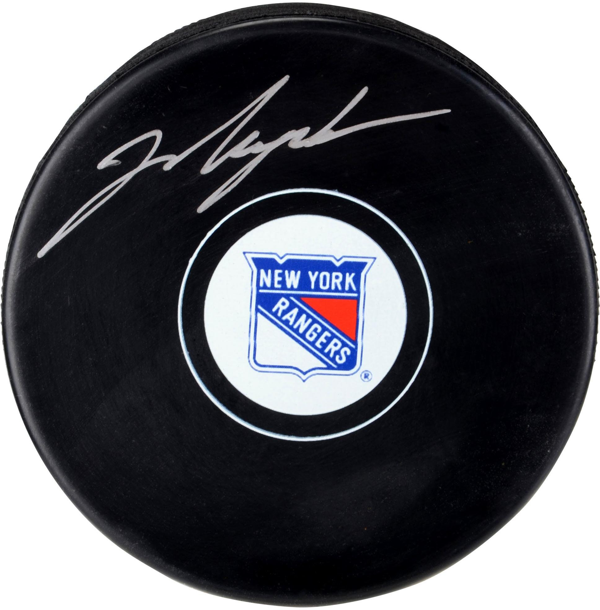 Mark Messier New York Rangers Autographed Hockey Puck Fanatics Authentic Certified Autographed NHL Pucks