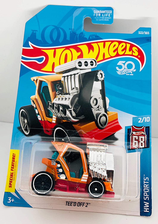 Hot Wheels 50th Anniversary HW Sports Teed Off 2 Orange 322//365 2//10 MHD-Merch Inc