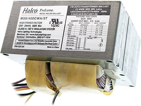 400W Metal Halide 120//208//240//277 Spartan Fixtures Ballast Assembly E110440M
