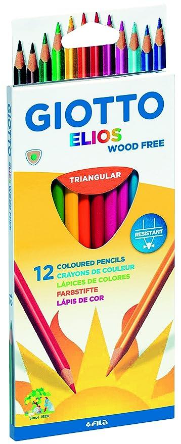 Giotto Elios Tri - Astuccio da 12 matite colorate triangolari 3e53be603c6